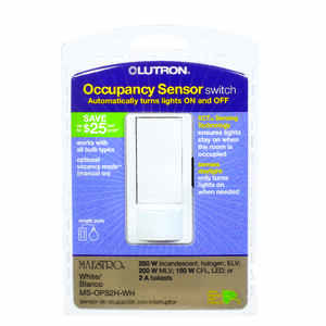 Lutron  Maestro Occupancy  Single pole  Motion Sensor  Switch  White  1 pk