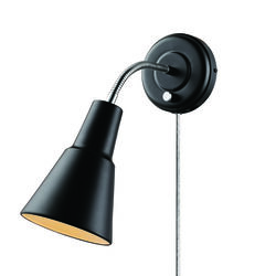 Globe Electric  Ramezay  1-Light  Matte  Black  Modern  Wall Sconce