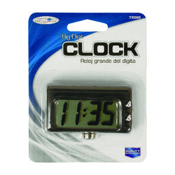 Custom Accessories Black Automotive Quartz Travel Clock 1 pk