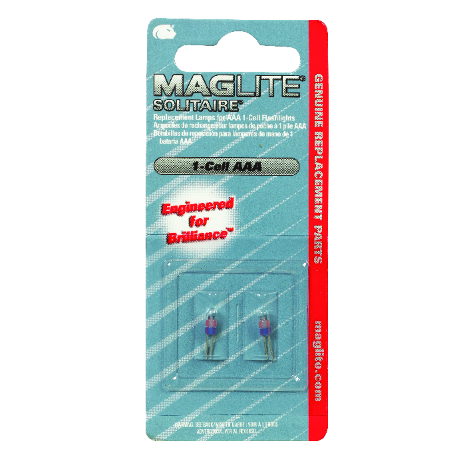 Maglite  Solitaire 1-Cell AAA  Flashlight Bulb  Bi-Pin Base