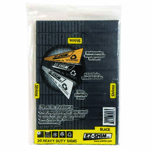 EZ SHIM  1.2 in. W x 8 in. L Plastic  Heavy Duty Shims  20 pk
