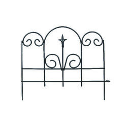 Panacea  16 in. L x 18 in. H Steel  Black  Garden Fence