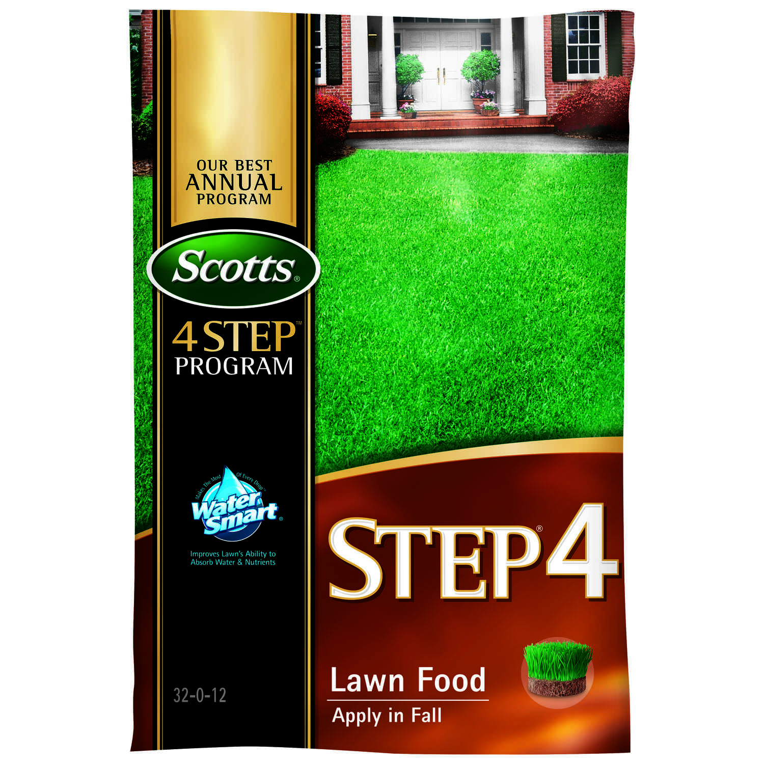 Scotts Step 4 32 0 12 Lawn Fertilizer For All Grass Types