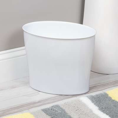 InterDesign  Nuvo  White  Oval  Wastebasket