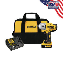 DeWalt 20V MAX 20 volt 1/2 in. Cordless Brushless Impact Wrench Kit (Battery & Charger)