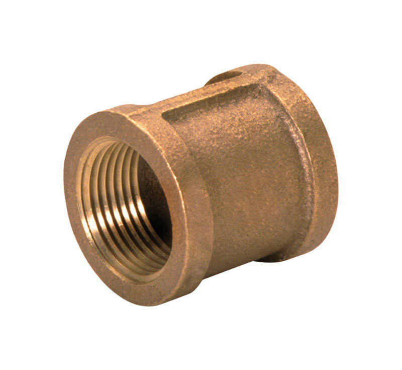 JMF  1/4 in. FPT   x 1/4 in. Dia. FPT  Brass  Threaded Coupling
