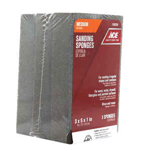 Ace  5 in. L x 1 in.  x 3 in. W 80 Grit Extra Large  Sanding Sponge  Medium