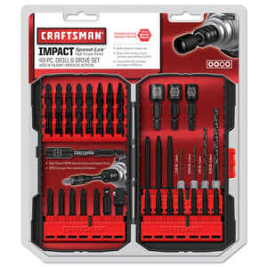 Craftsman  Speed-Lok  Multi Size  Dia. x 1/4 inch  L High Speed Steel  Drill and Driver Bit Set  Hex