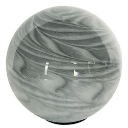 OutDoozie Glass Gray 5 in. H Strata Gazing Ball