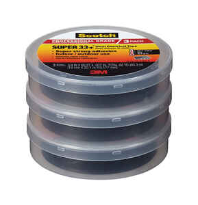Scotch  3/4 in. W x 66 ft. L Black  Vinyl  Electrical Tape