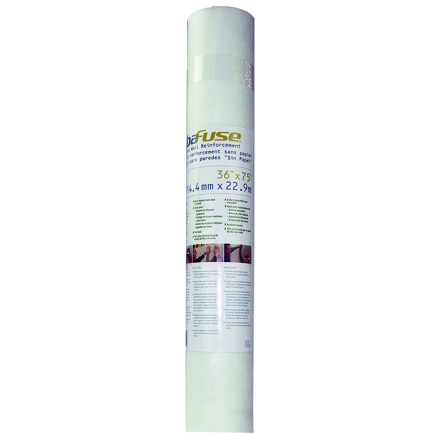 Adfors  FibaFuse  75 ft. L x 36 in. W Fiberglass  White  Wall Repair Fabric
