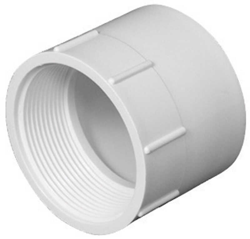 Charlotte Pipe  1-1/2 in. Hub   x 1-1/2 in. Dia. FPT  Pipe Adapter
