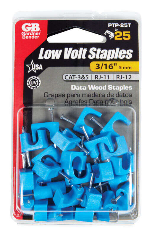 GB  3/16 in. W Plastic  Insulated Cable Staple  25
