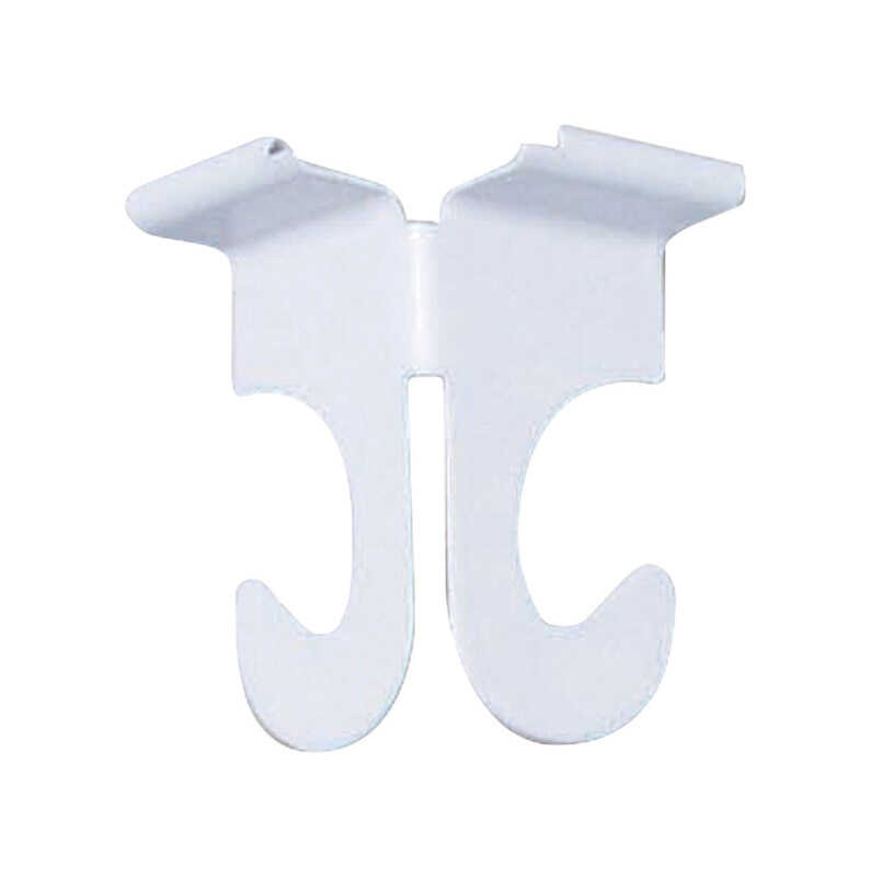 Panacea  White  Steel  2 in. H Sturdy  Drop Ceiling Track Hooks  2 pk