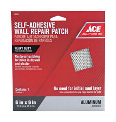 Ace  0.5 ft. L x 6 in. W Reinforced Aluminum  Silver  Self Adhesive Wall Repair Patch