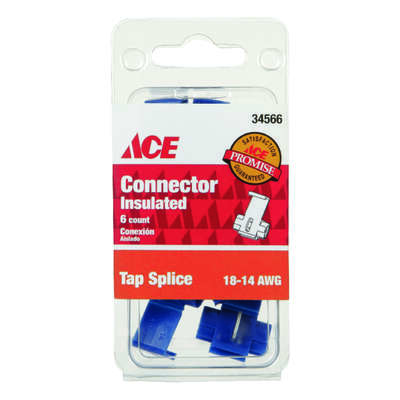 Ace Insulated Wire Tap Splice Connector Red 6 pk