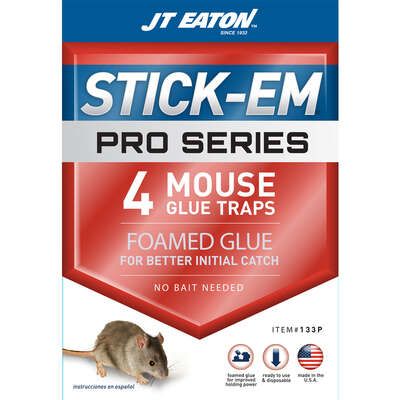 JT Eaton  Stick-Em  Glue Trap  For Insects and Mice 4 pk