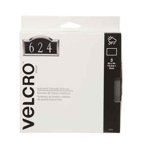 Velcro Brand  Industrial Strength Extreme  Hook and Loop Fastener  4 in. L 3 pk