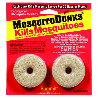 Summit  Mosquito Dunks  Repellent  Solid  For Mosquitoes 0.8 oz.