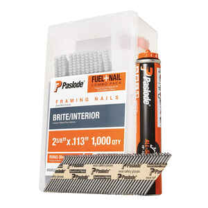 Paslode  30 deg. 18 Ga. Ring Shank  Angled Strip  Fuel and Nail Kit  2-3/8 in. L x 0.11 in. Dia. 100