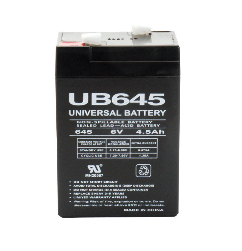 Universal Power Group  UB645  4.5 amps Lead Acid Automotive Battery