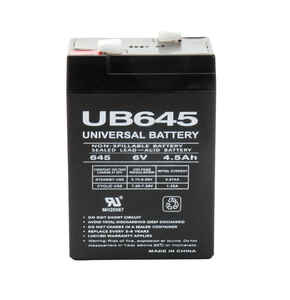 Universal Power Group  UB645  Sealed 4.5 amps Lead Acid Automotive Battery
