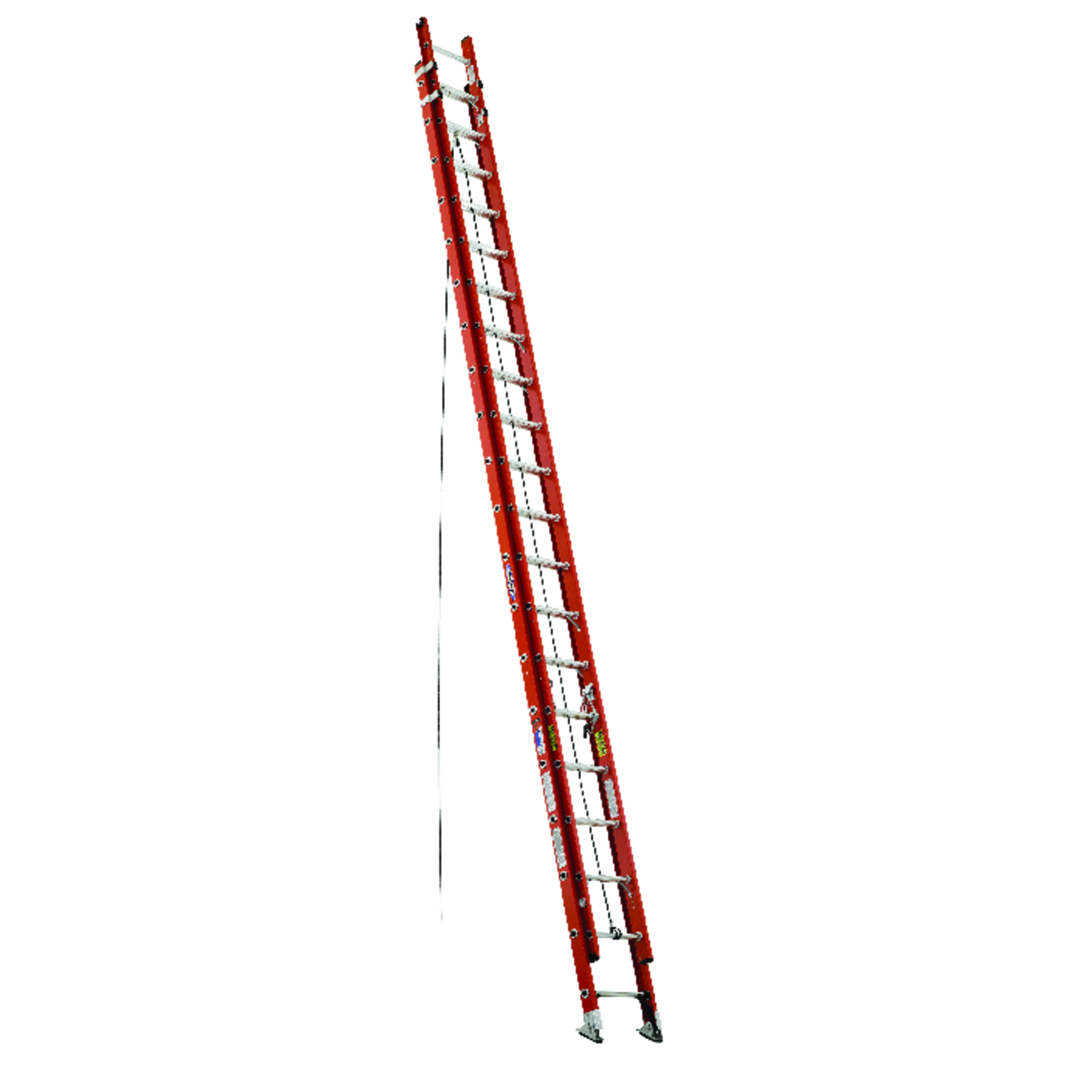 Werner  40 ft. H x 19 in. W Extension Ladder  Fiberglass  300 lb. Type IA