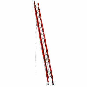 Werner  40 ft. H x 19 in. W Fiberglass  Extension Ladder  Type IA  300 lb.