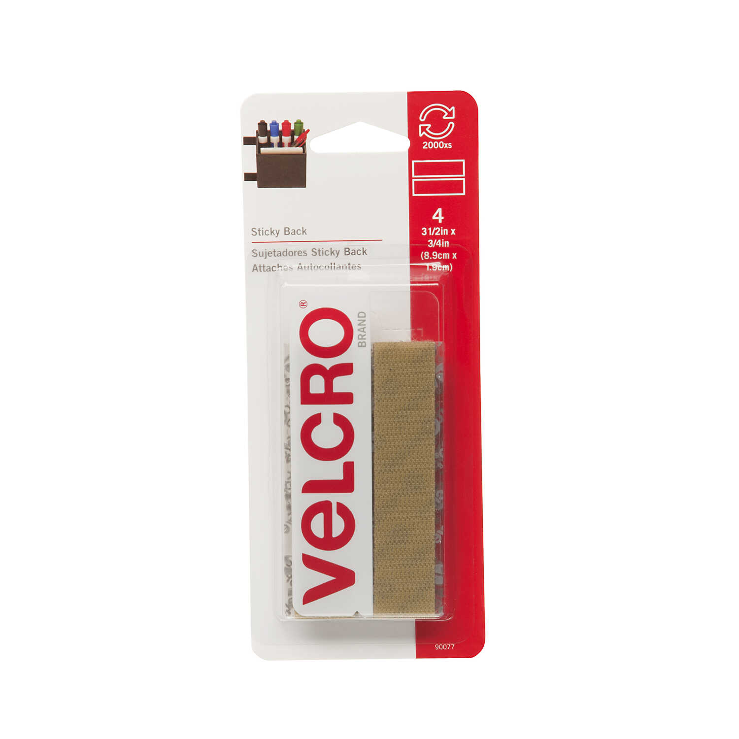 Velcro  3-1/2 in. L 4 pk Hook and Loop Fastener