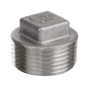 Smith-Cooper  1-1/2 in. MIP   x 1-1/2 in. Dia. MPT  Stainless Steel  Square Head Plug