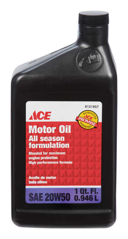 Ace  SAE 20W50  Motor Oil  1 qt.