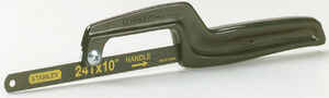 Stanley  Mini Hack  11 in. Hacksaw  Black  1 pc.