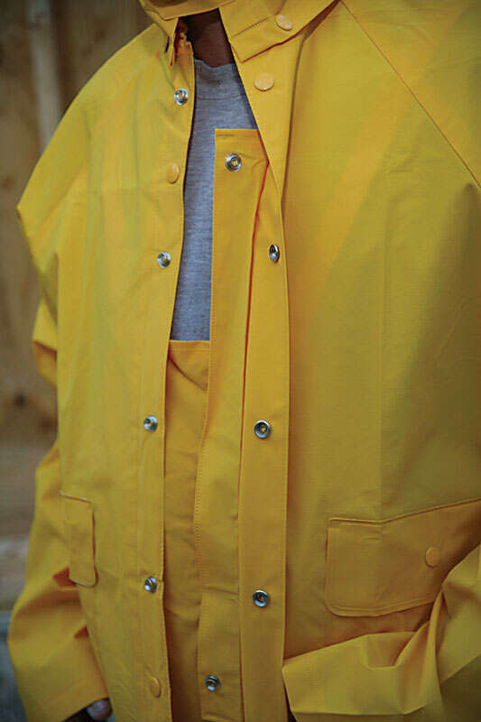 Boulder Creek  Yellow  Three Piece Rain Suit  PVC-Coated Rayon
