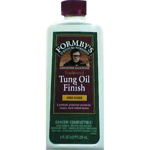 Formby's  Oil-Based  Transparent  Amber  High Gloss  Oil-Based  Tung Oil  Clear  0.5 pt. High-Gloss