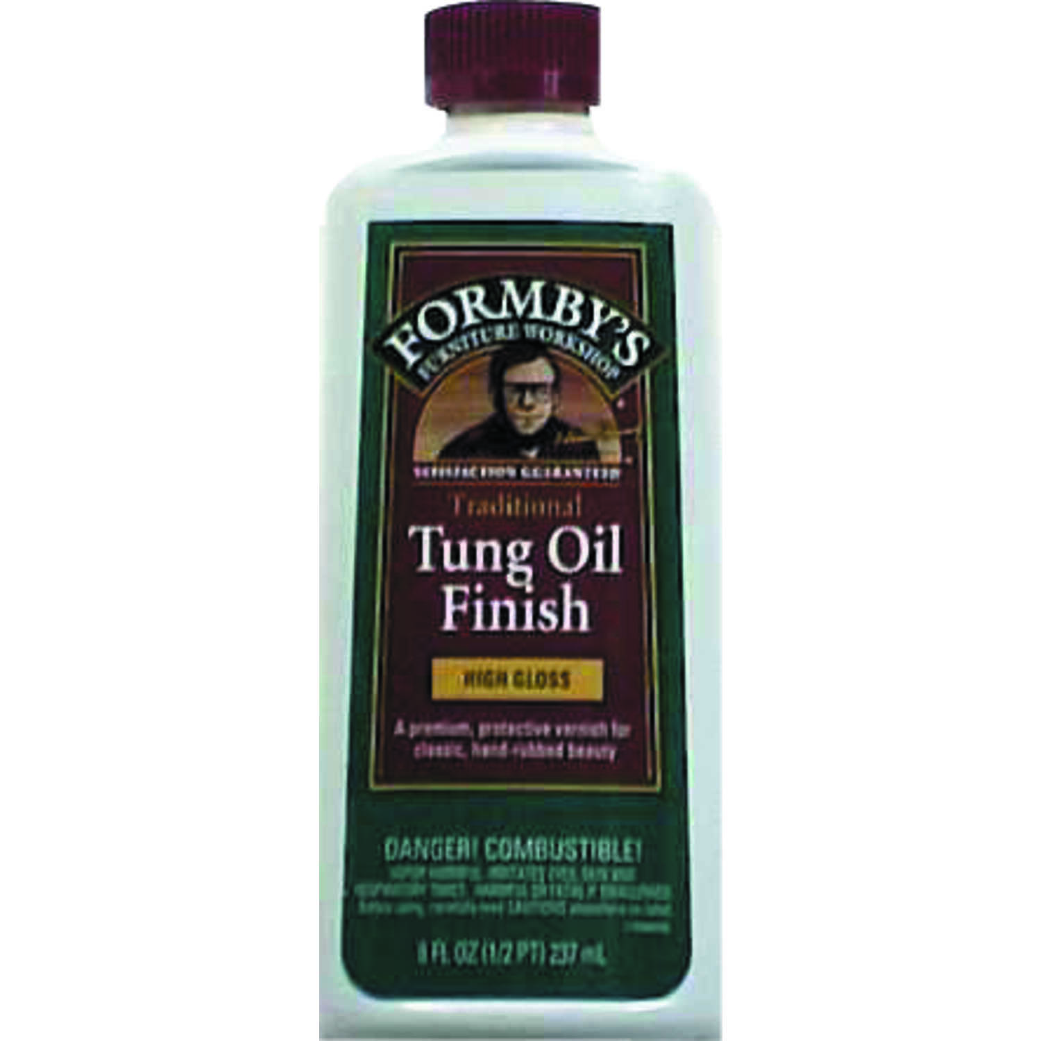 Formby's  Transparent  Oil-Based  Amber  High Gloss  High-Gloss  Tung Oil  Oil-Based  0.5 pt. Clear