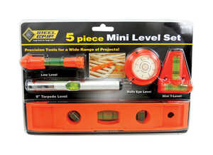 Steel Grip  9 in. Plastic  Torpedo  Level Set  3