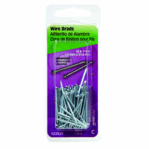 HILLMAN  16 Ga.  x 1-1/4 in. L Galvanized  Steel  Brad Nails  1 pk 1.75 oz.