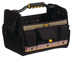 CLC Work Gear  14 in. Polyester  Tool Box  11 in. H x 8 in. W Black