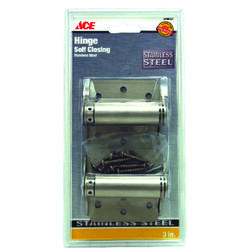 Ace 3 in. L Stainless Steel Adjustable Spring Hinge 2 pk