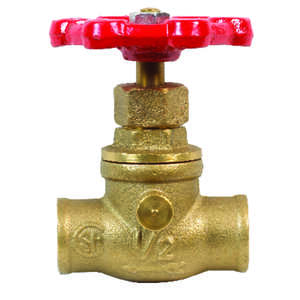 ProLine  1/2 in.  x 1/2 in.  Stop and Waste Valve  Stop and Waste  Brass