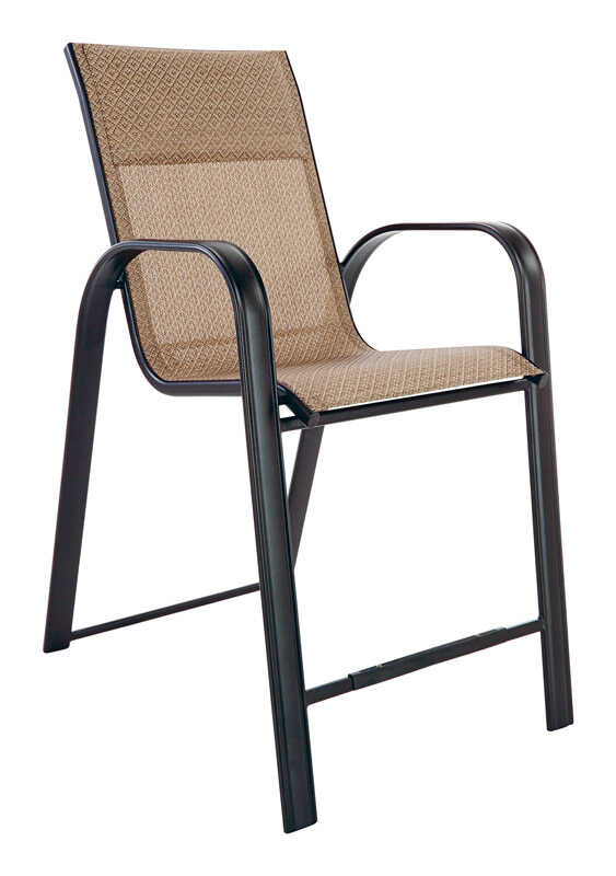 Living Accents  Balcony  Black  Steel with Sling Fabric  Newport  Chair