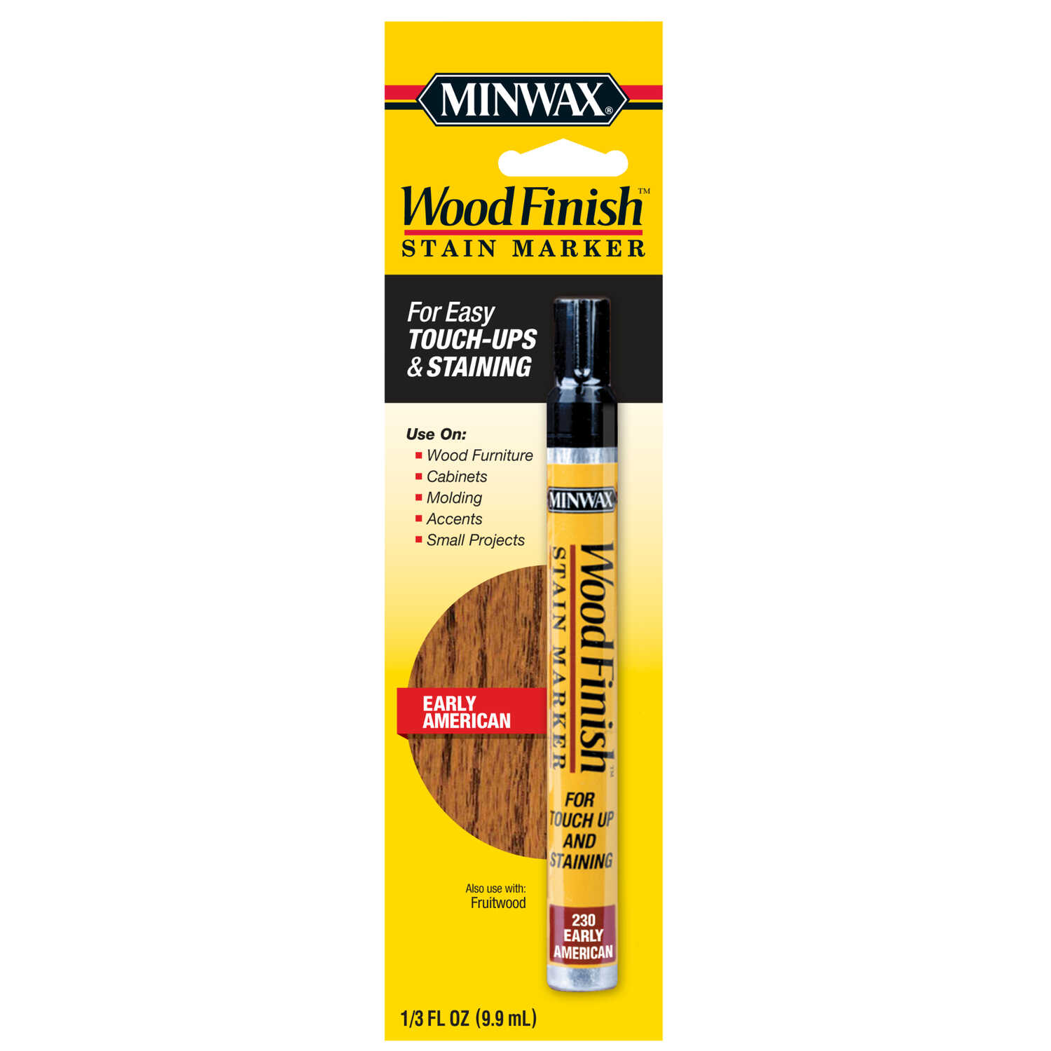 Minwax  Wood Finish  Semi-Transparent  Early American  Oil-Based  Stain Marker  0.33 oz.
