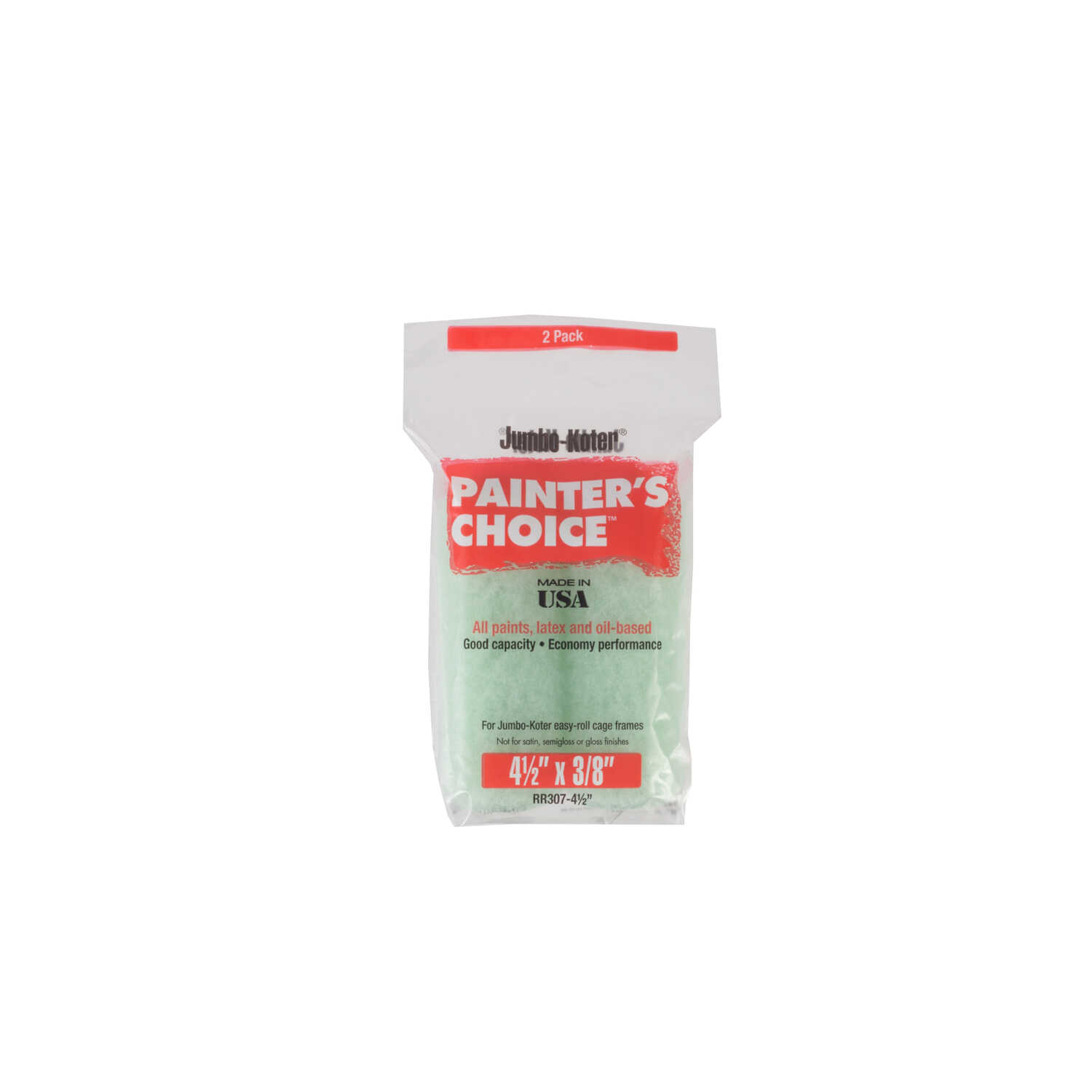Wooster  Painter's Choice  Knit  3/8 in.  x 4-1/2 in. W Paint Roller Cover  For Medium Surfaces 2 pk