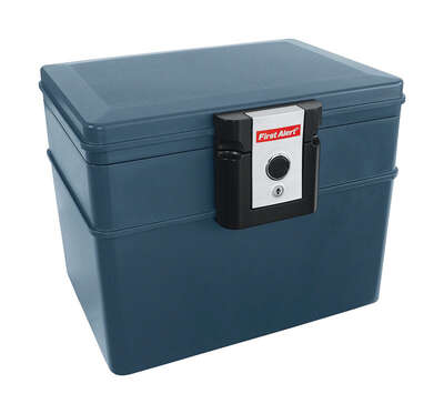 First Alert  0.62 cu. ft. Key Lock  Gray  File Chest