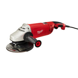 Milwaukee  Corded  15 amps 7 to 9 in. Large Angle Grinder with Lock-On  6000 rpm