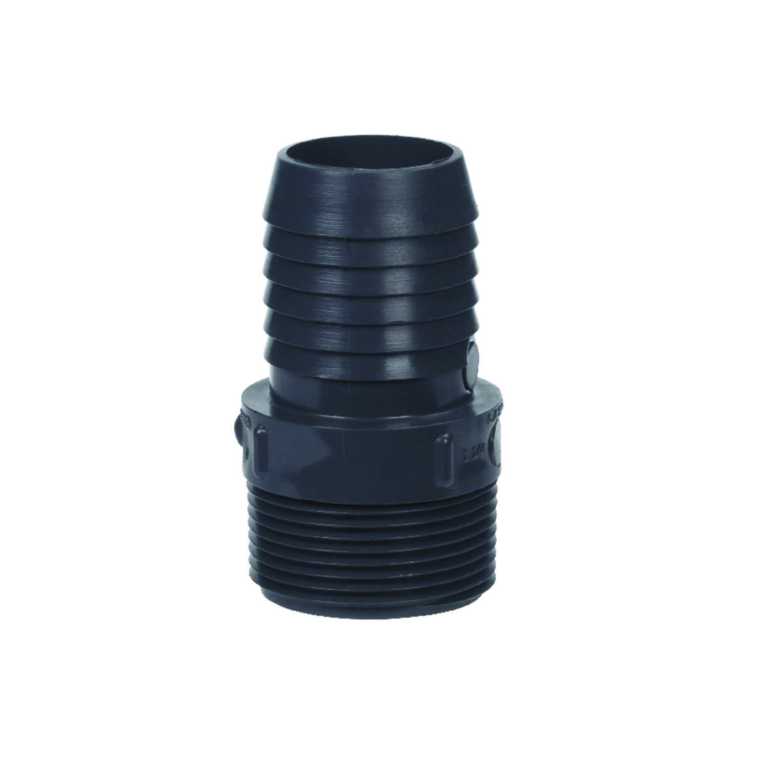 Lasco  1-1/4 in. Insert   x 1-1/4 in. Dia. MPT  Insert Adapter