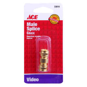 Ace  Double Male F Adapter  1 pk