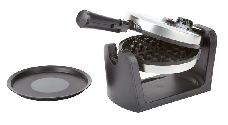 West Bend Rotary Waffle Maker  1,080 watts  Small Brushed Stainless Steel