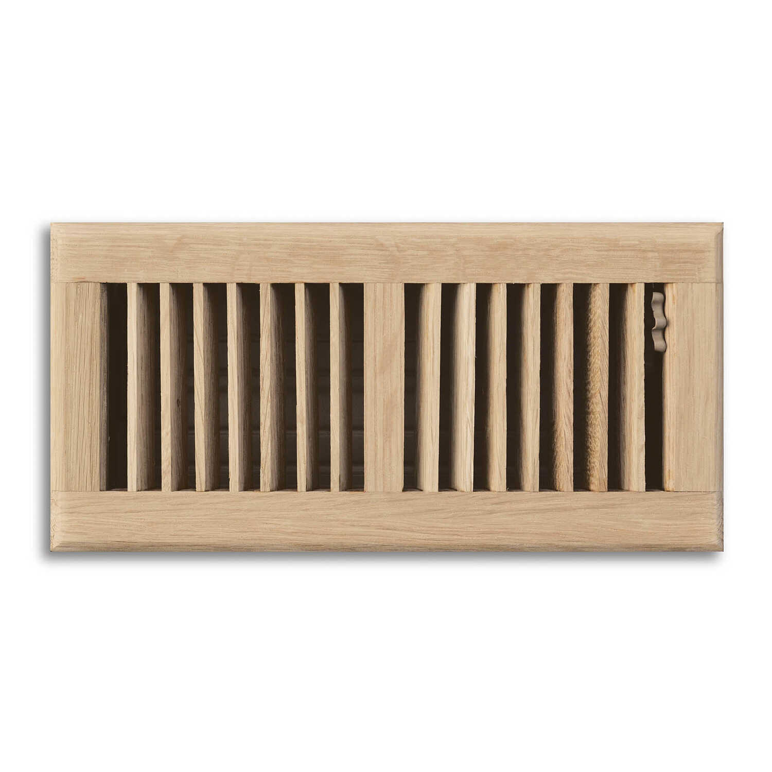 Tru Aire  4 in. H x 3-1/16 in. D Steel  Floor Diffuser  1-Way  Oak