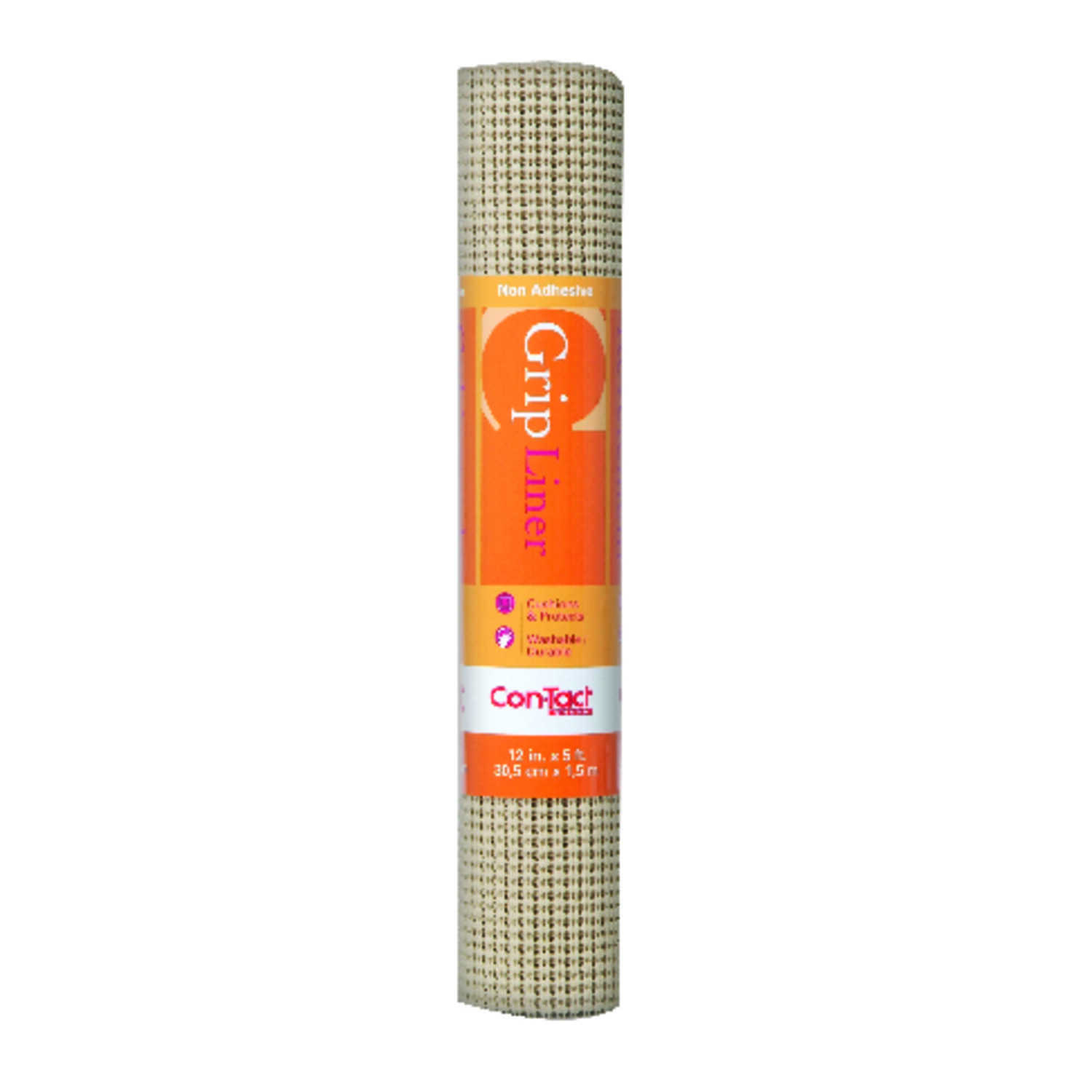 Con-Tact  Grip  5 ft. L x 12 in. W Taupe  Non-Adhesive  Beaded Liner